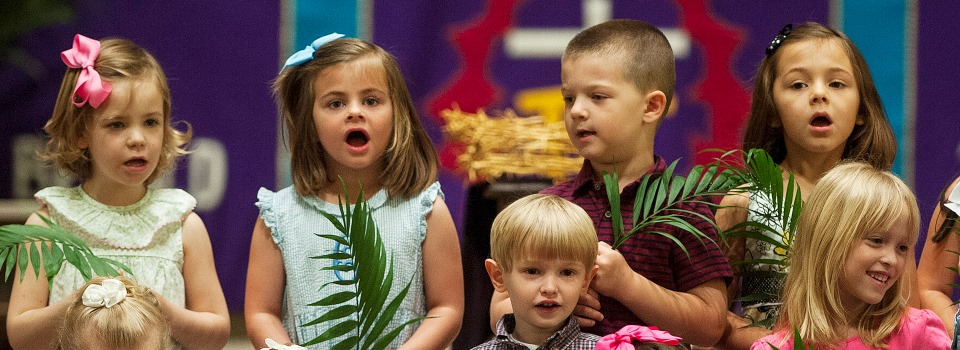 Children Singing - Palm Sunday