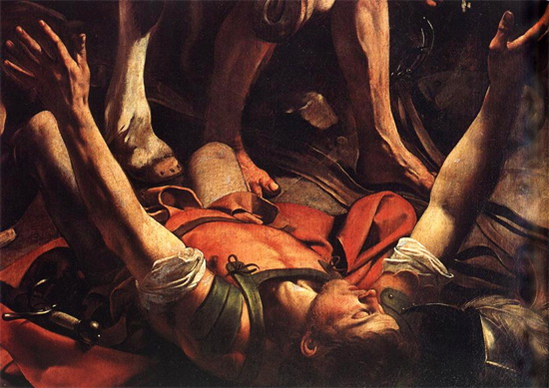 """""""The conversion on the way to Damascus"""" by Caravaggio"""