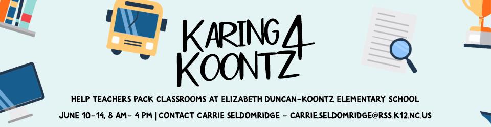 Karing 4 Koontz event