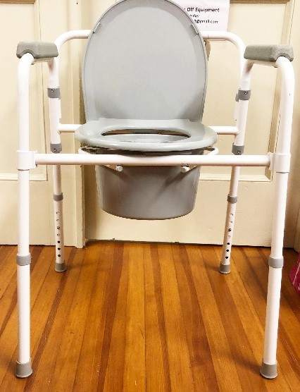 Commode chair- for bedside or use when patient needs shorter distance to facilities