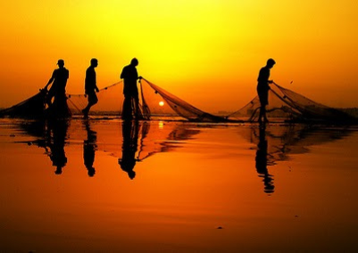"""And Jesus said to them, """"Follow me, and I will make you fish for people."""" Immediately they left their nets and followed him. Matthew 4:19-20"""