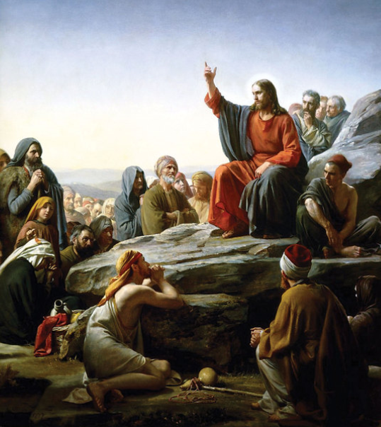 A Sermon on the Mount by Carl Heinrich Block, oil on canvas