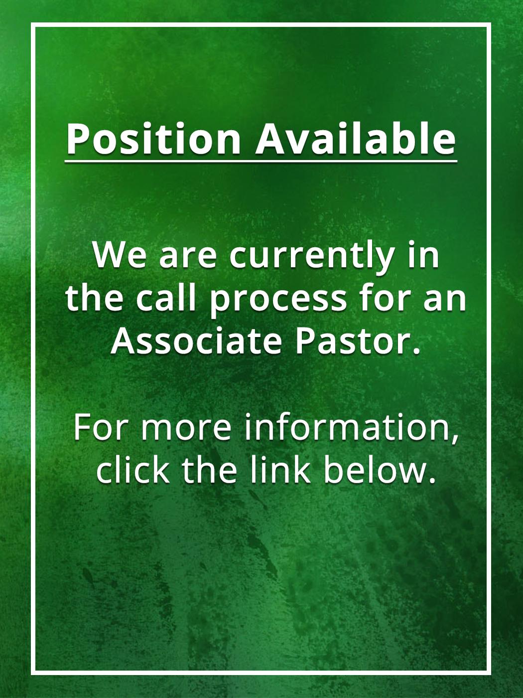 Asscociate Pastor