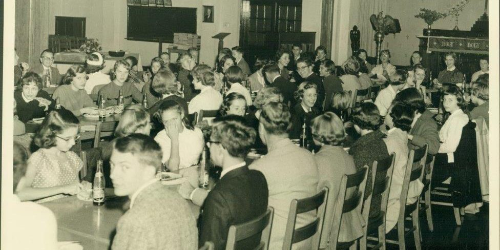 Luther League in the Fellowship Hall (1950s)