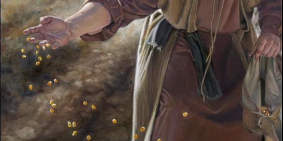 The Sower by Liz Lemon Swindle, oil on canvas